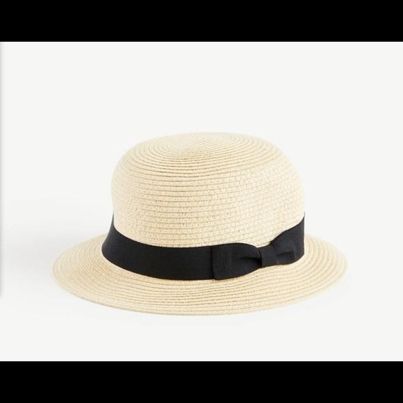 Loft Ribbon straw hat one size NWT